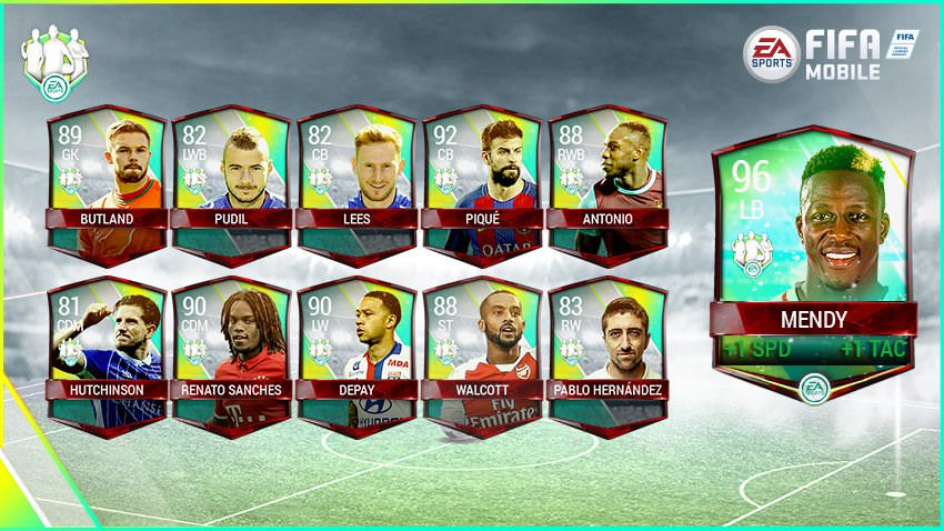 FIFA Mobile Vs Attack Community Team of the Week 6