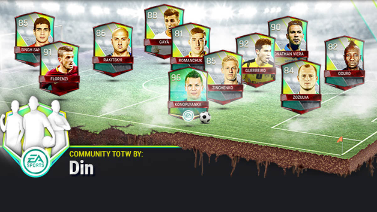 FIFA Mobile Vs Attack Community Team of the Week 8