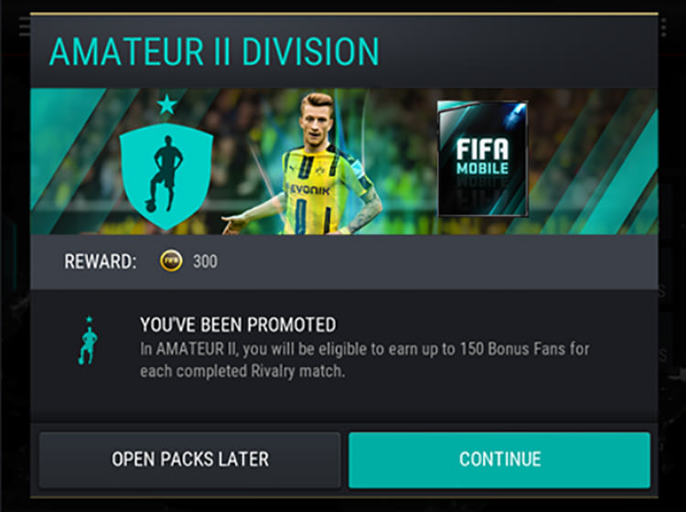 FIFA Mobile Division Rewards