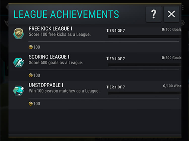 FIFA Mobile League Achievements Working Together