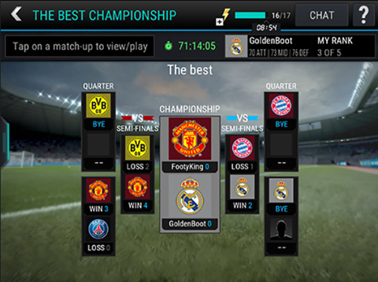 FIFA Mobile League Championship Rounds