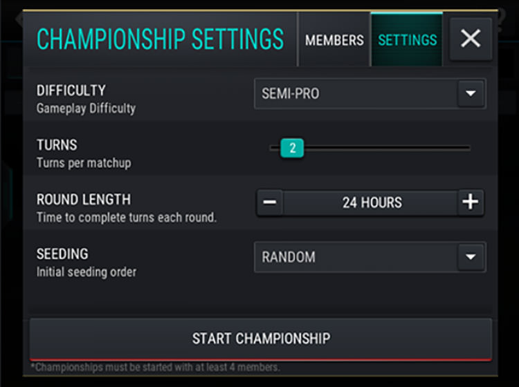 FIFA Mobile Setting Up League Championship
