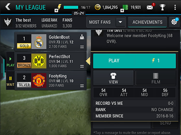 FIFA Mobile League Attack Mode