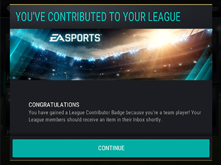 FIFA Mobile League Contributions