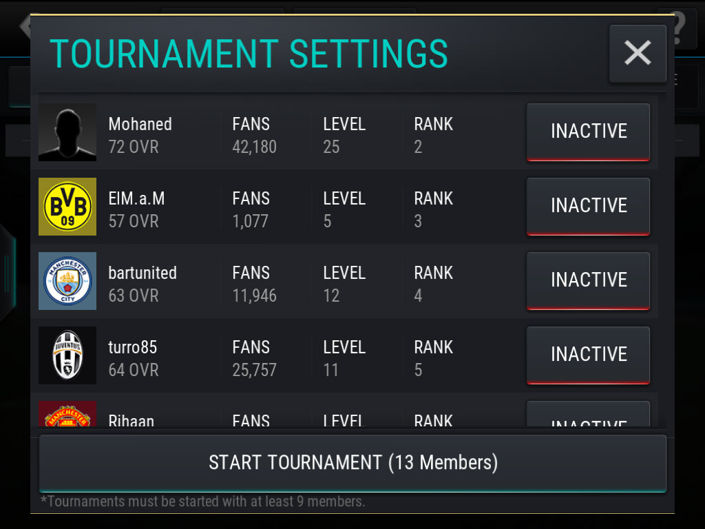 FIFA Mobile Leagues Tournament