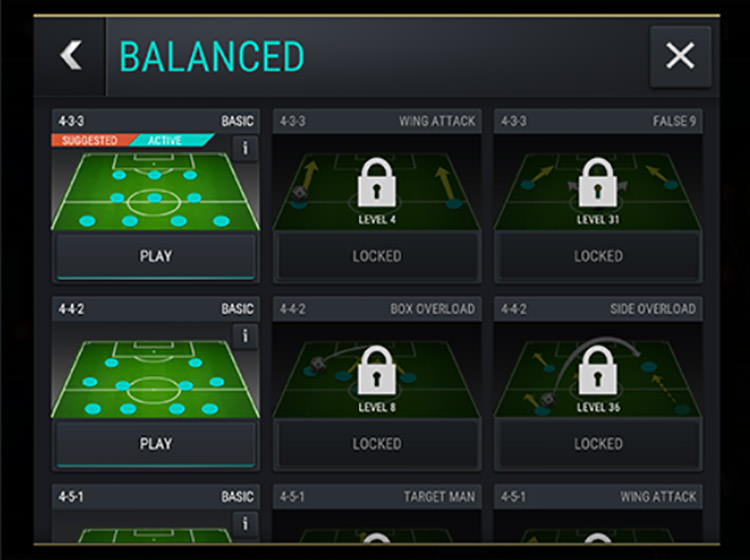 FIFA Mobile Active Tactics