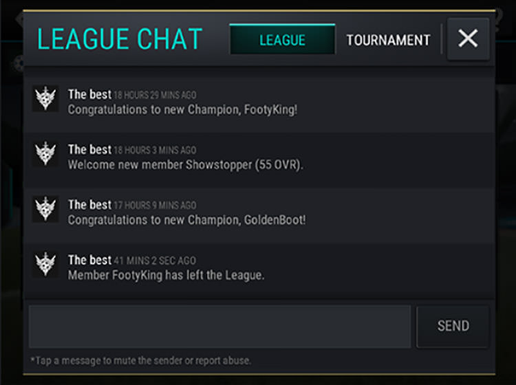 FIFA Mobile Tournaments Chat