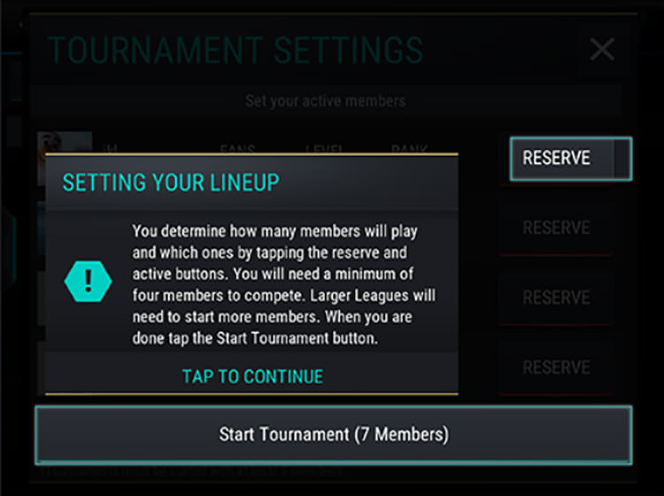 FIFA Mobile Setting Tournaments