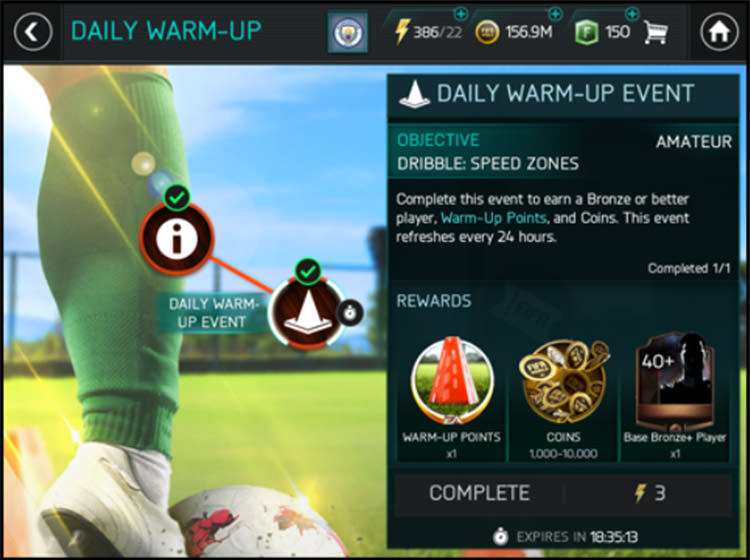 FIFA Mobile Completing Events