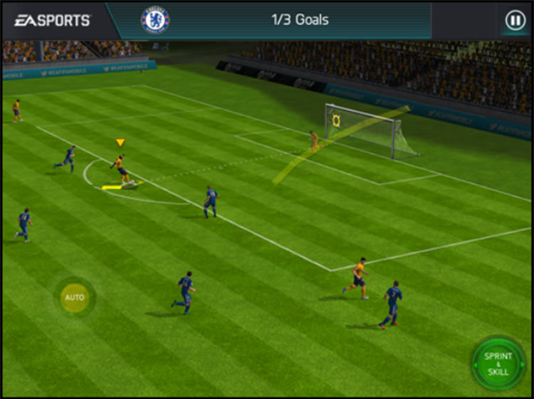 FIFA Mobile Shooting Controls