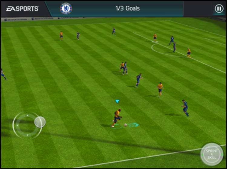 FIFA Mobile Sprinting Controls
