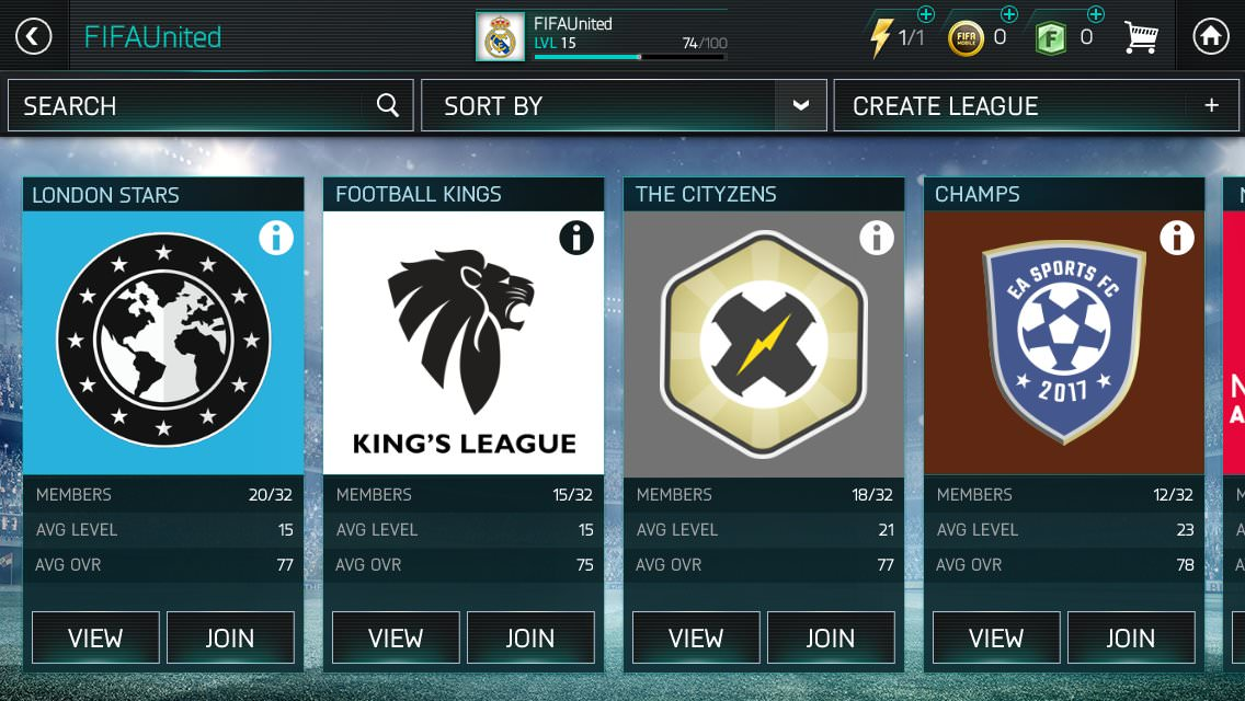 FIFA Mobile Enhanced Leagues