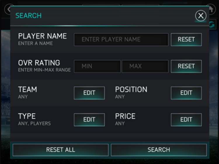 FIFA Mobile Search