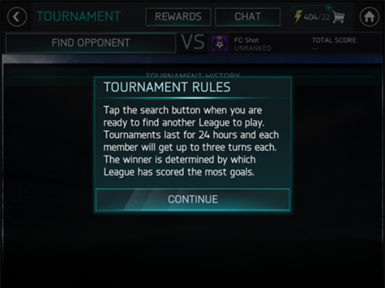 FIFA Mobile Accessing League Tournaments