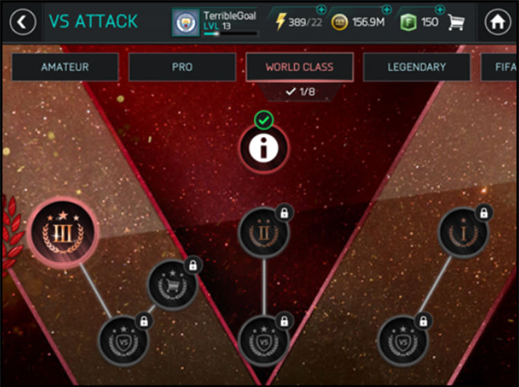 FIFA Mobile VS Attack Rewards