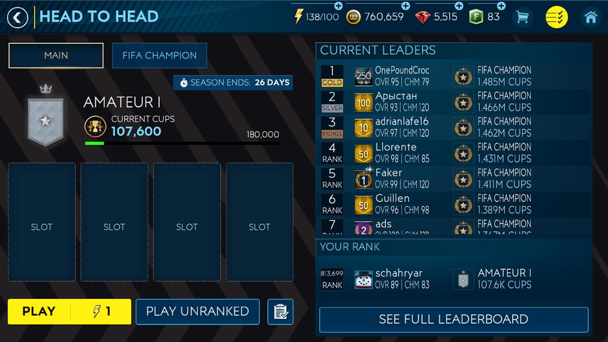 FIFA Mobile – Head to Head – FIFPlay