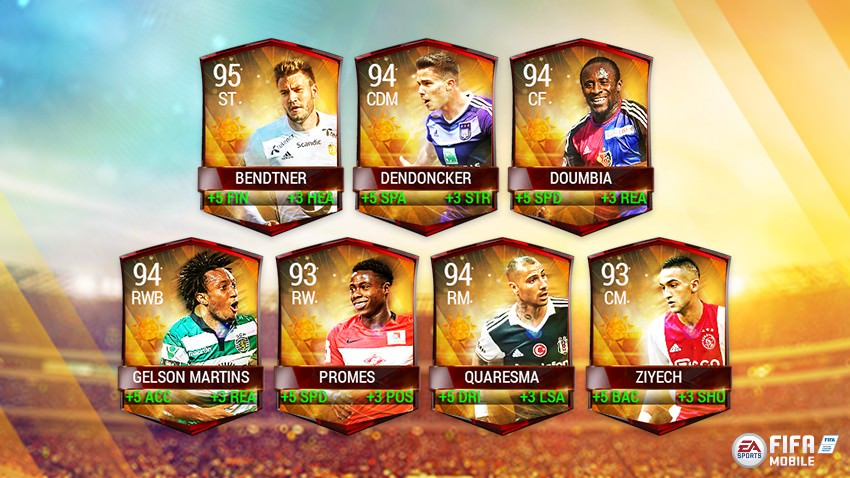 FIFA Mobile Summer Celebration Master Players