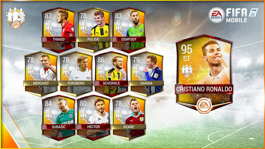 FIFA Mobile Team of the Week 4