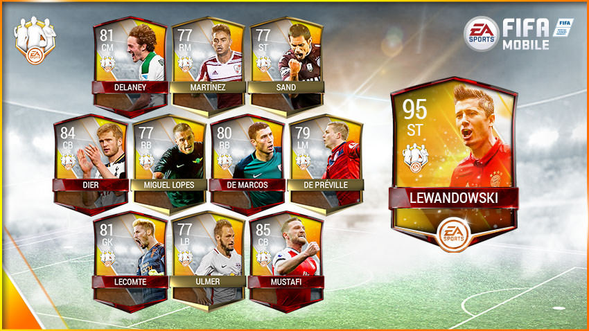 FIFA Mobile Team of the Week 5