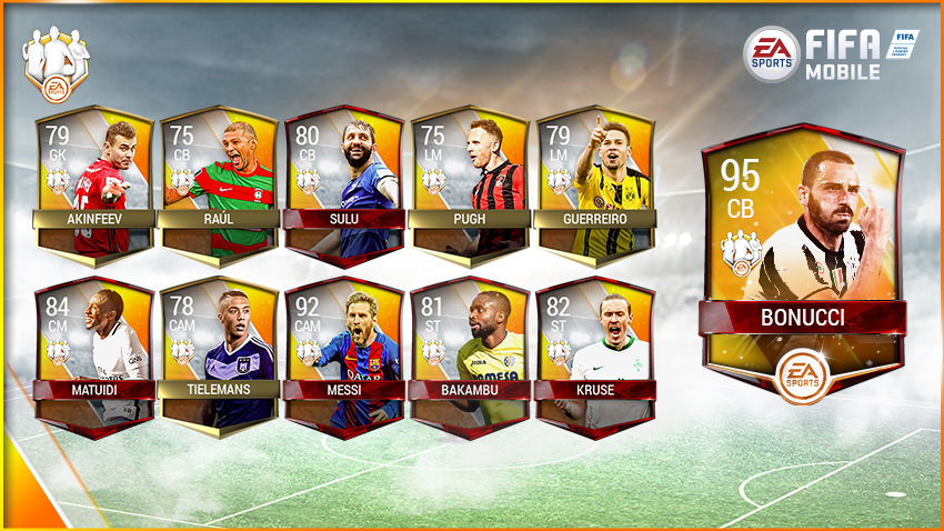FIFA Mobile Team of the Week 8 – April 26