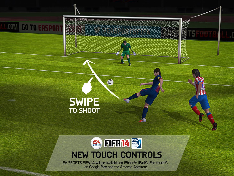 FIFA 14 iPhone, iPad and iPod (Swipe to shoot)