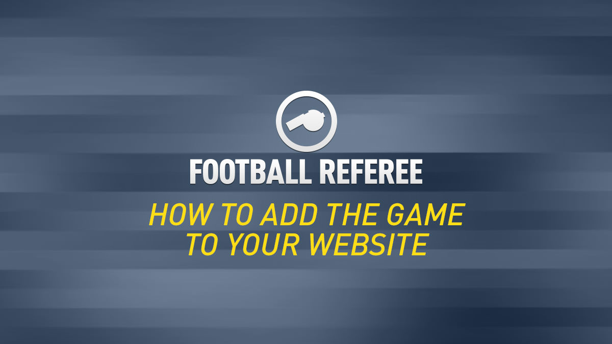 How to Add Football Referee to Your Website