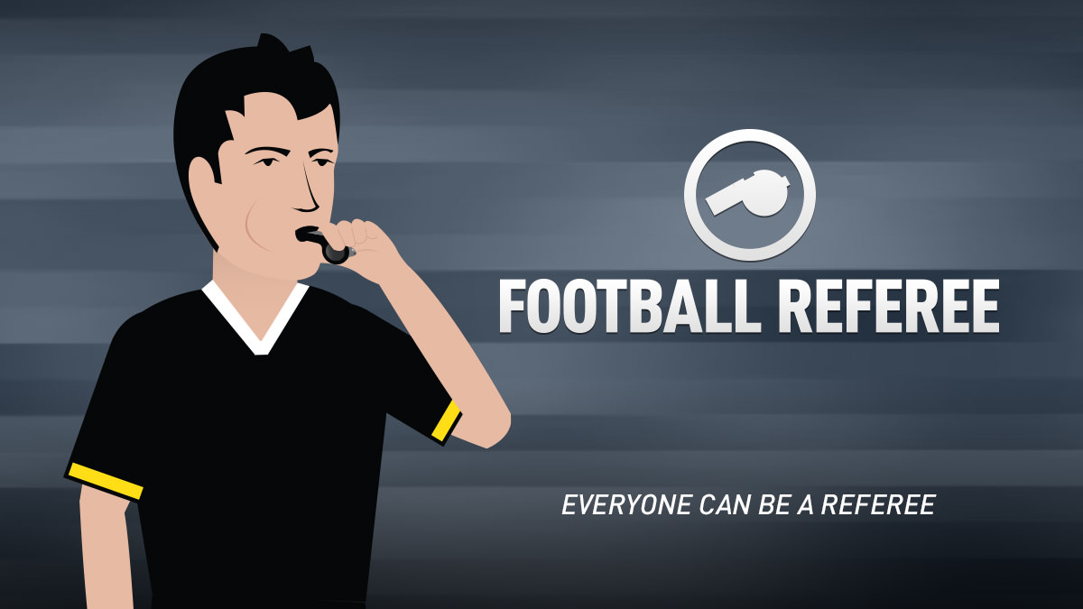 Play A Football Game As The Referee