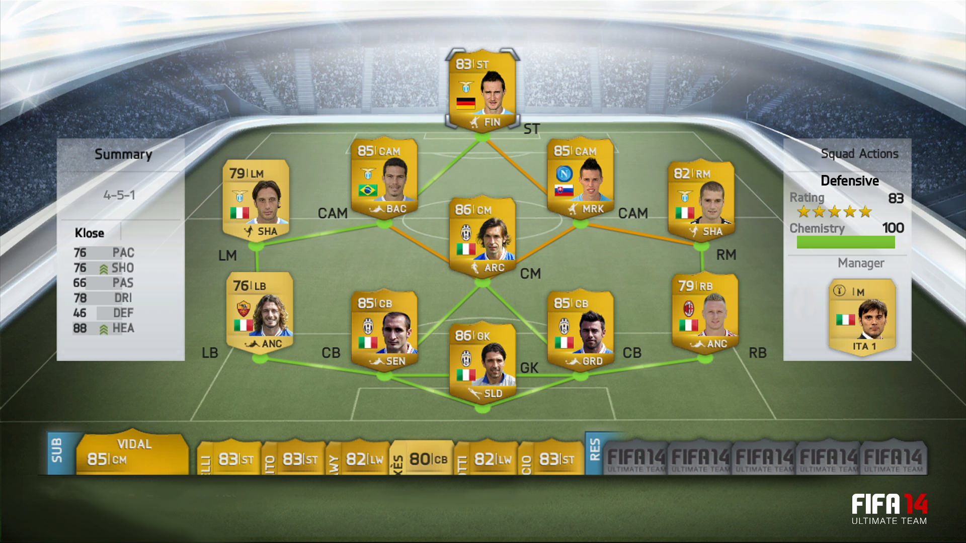FIFA 14 Ultimate Team Screenshots