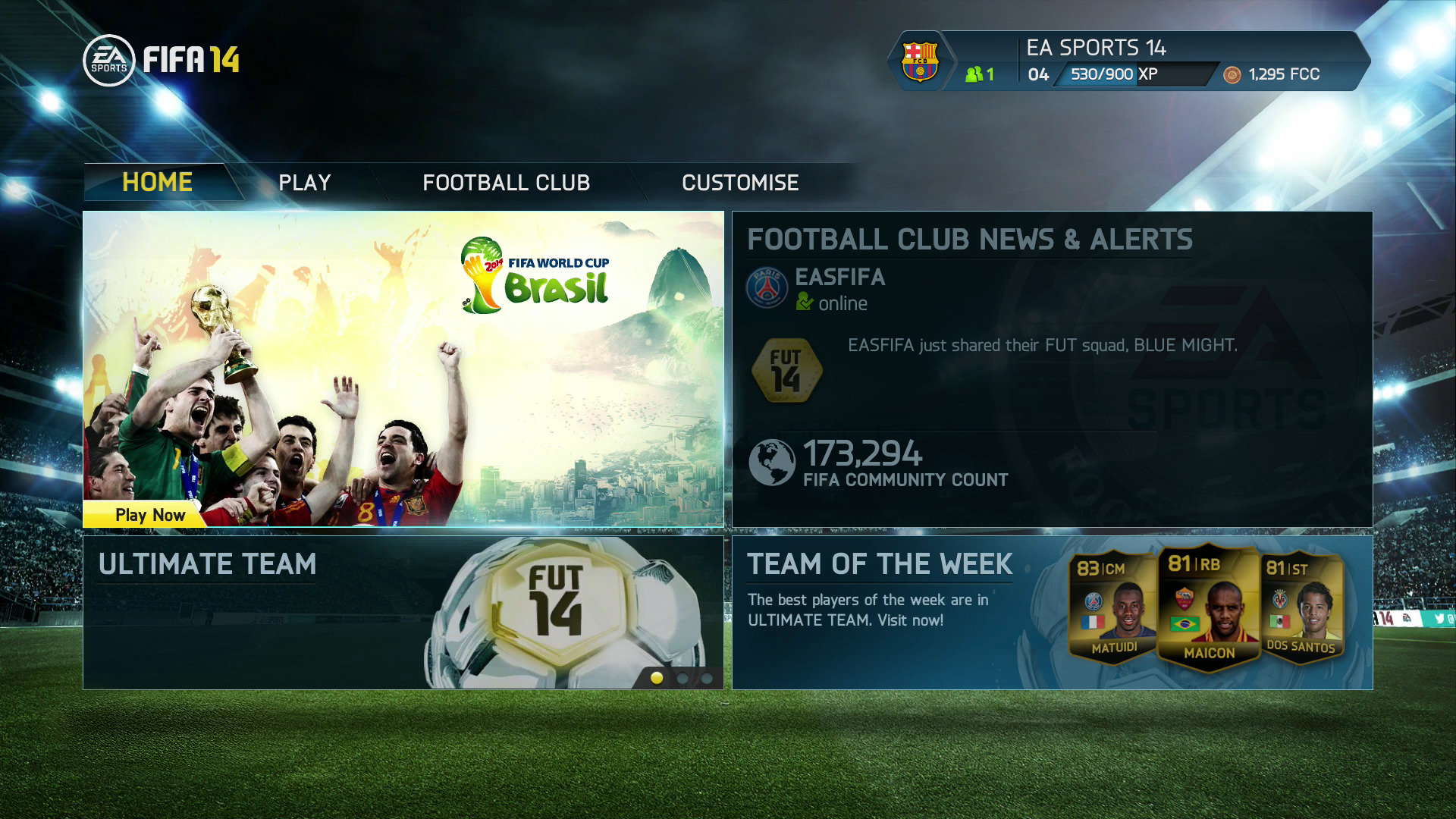 FIFA 14 Ultimate Team - 2014 World Cup Patch