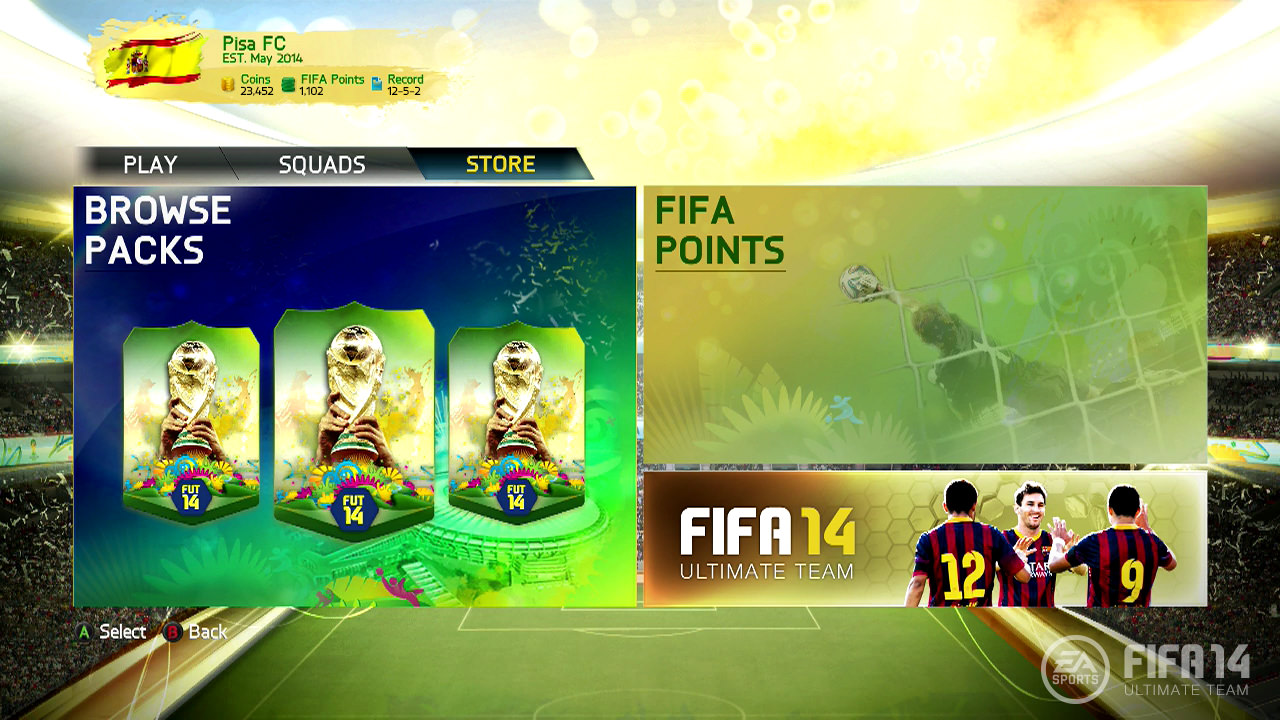 FIFA 14 Ultimate Team - 2014 World Cup Update