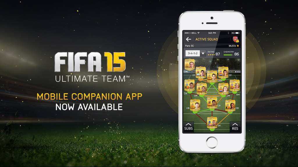 FIFA 15 Companion App on Mobile