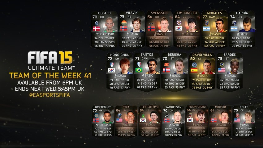 FUT 15 Team of the Week 41
