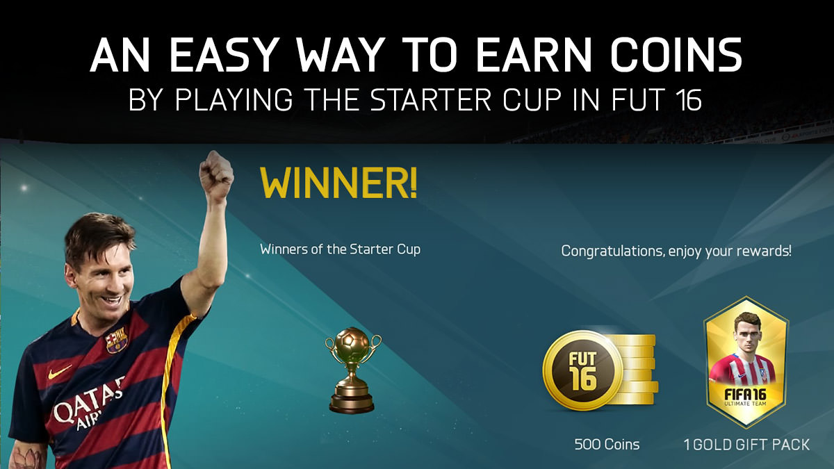 An Easy Way to Earn Coins Using the Starter Cup in FUT 16
