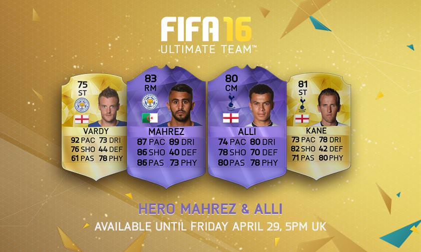 FUT 16 Hero Cards for PFA Player of the Year