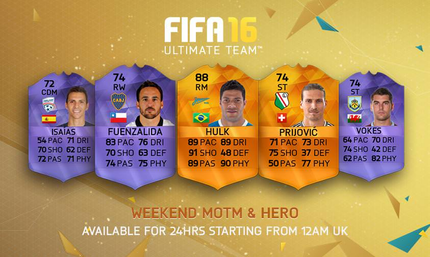FUT 16 Man of the Match & Hero – May 3