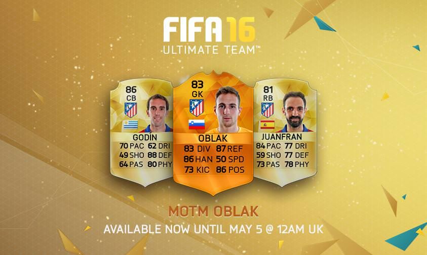 FUT 16 Man of the Match – May 4