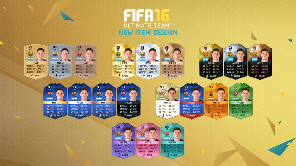 FIFA 16 Ultimate Team – New Item Design – FIFPlay