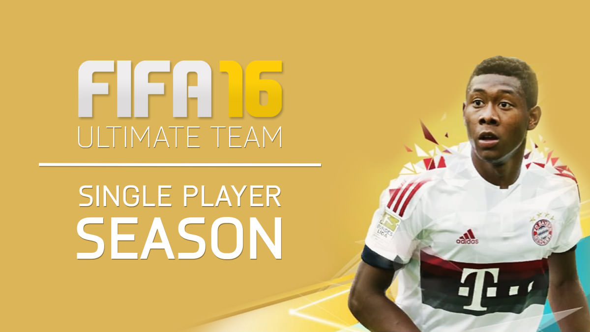 FIFA 16 Ultimate Team – Single Player Season Details