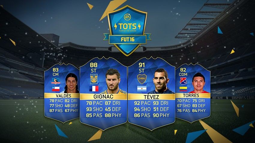 FIFA 16 Ultimate Team - Team of the Season - Latin America