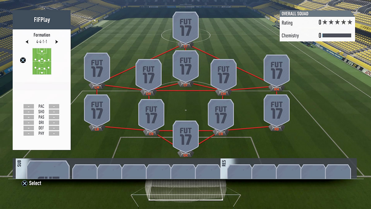 FIFA 18 Formation 4-4-1-1
