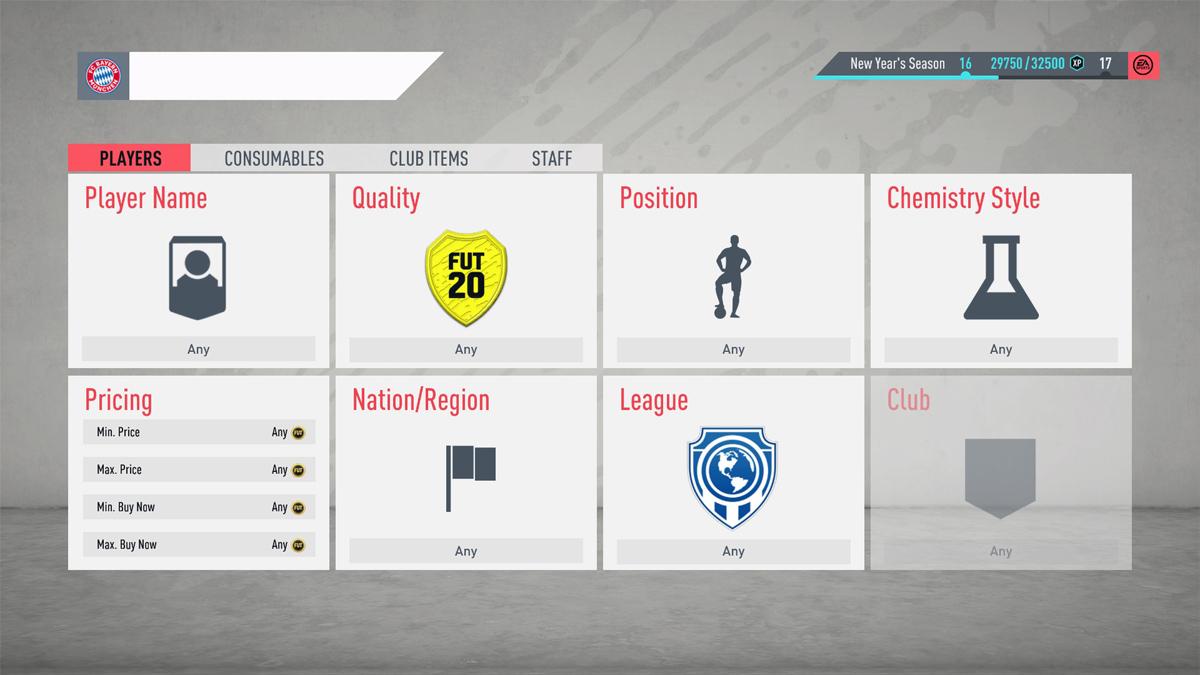 FIFA 20 Transfer Market