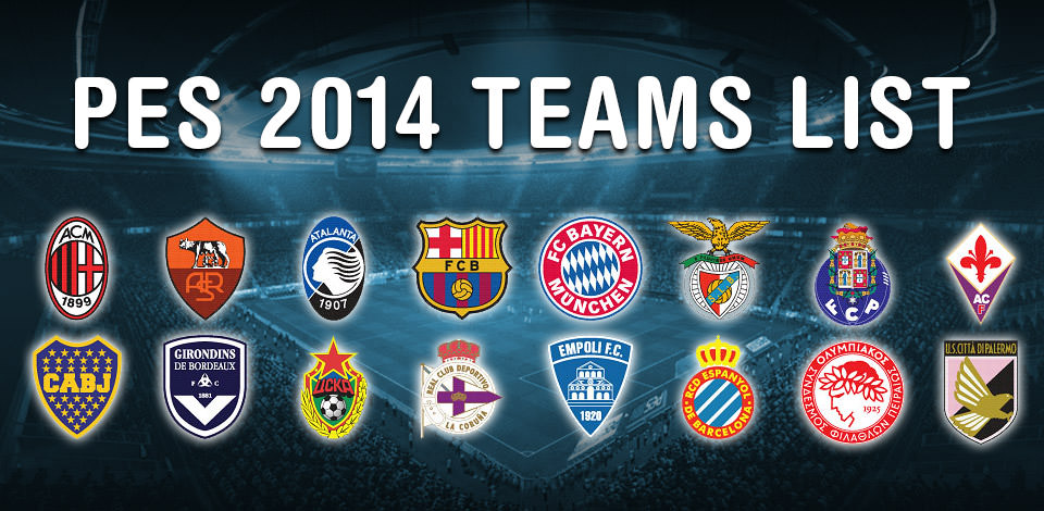 PES 2014 Clubs and Teams