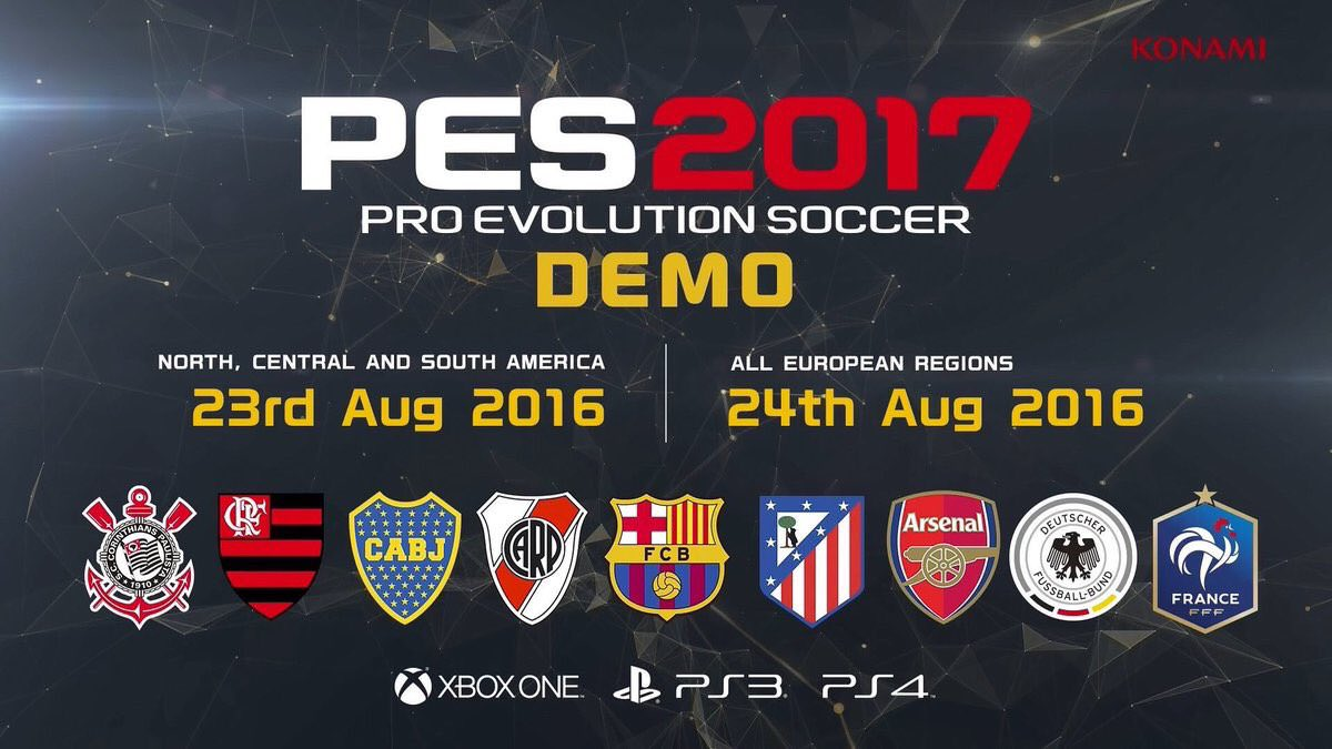 PES 2017 Demo is Available to Download
