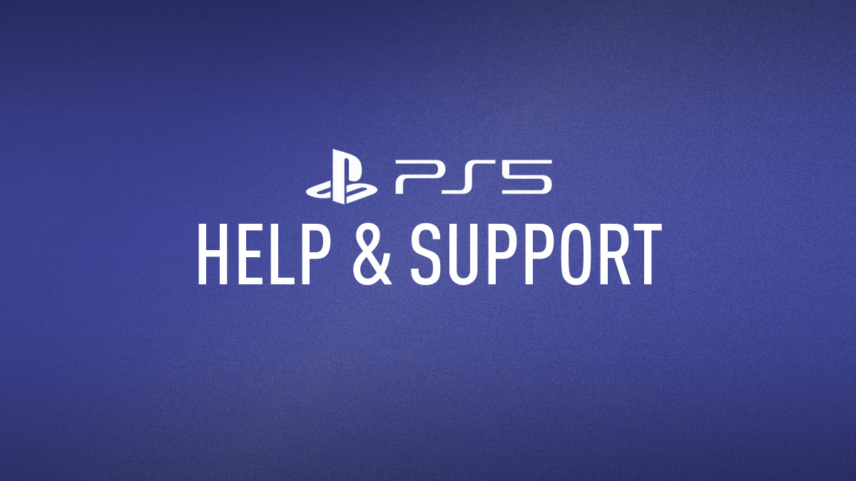 PlayStation 5 – Help & Support